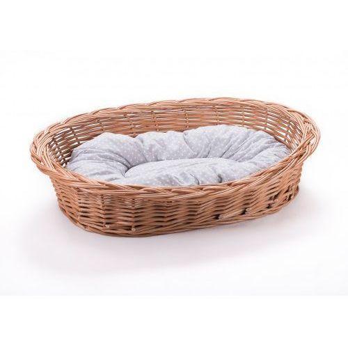 Wyroby z wikliny pph jan wnuk Leżak wiklinowy dla psa kota i innych zwierząt kosz z poduszką