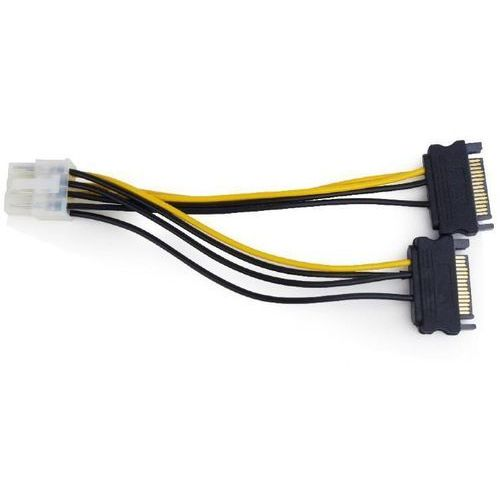 Gembird Kabel przedłużacz zasilania kart graficznych pci-express 8 pin do 2 x sata