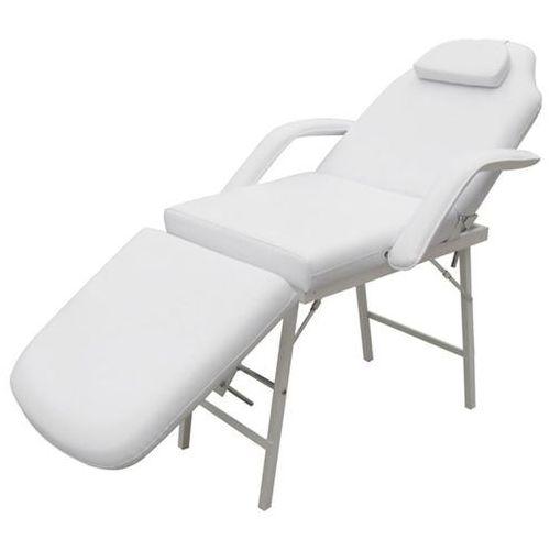 Vidaxl fotel kosmetyczny ruchomy, biały