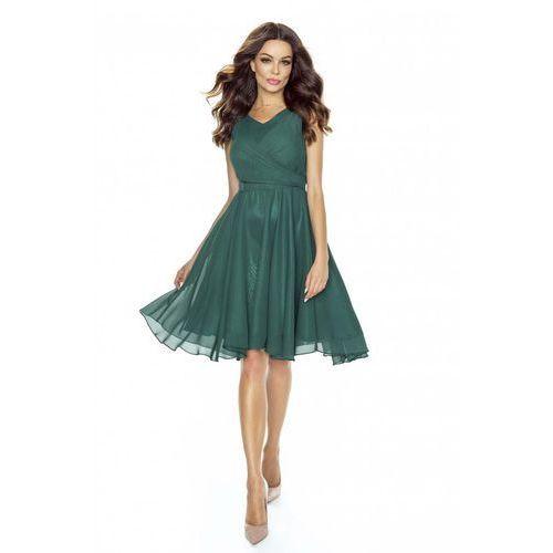 Zielona Sukienka Koktajlowa z Szyfonu, koktajlowa