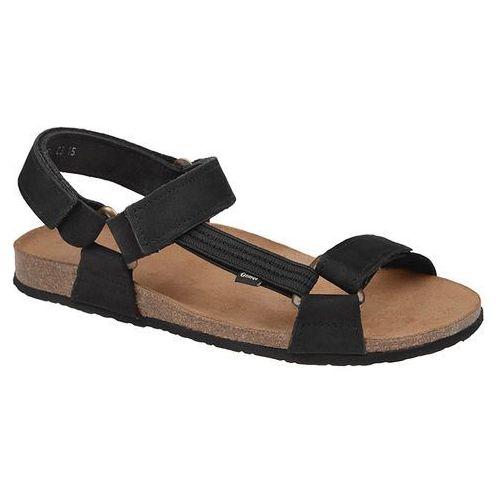 Otmęt Sandały 415cp czarne naturform fussbett jezuski - czarny   beżowy