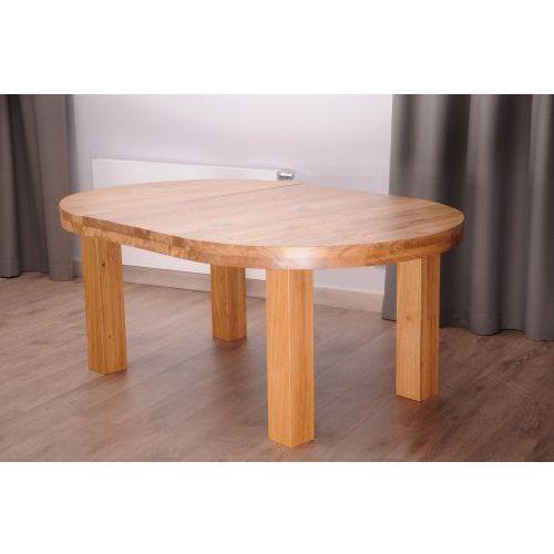 Stół dębowy okrągły ROZKŁADANY MODERN