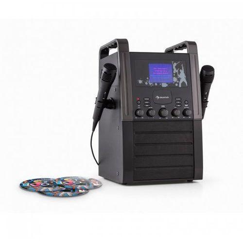 Auna Ka8b-v2 bk zestaw karaoke odtwarzacz cd aux 2 x mikrofon3 cd + g do karaoke