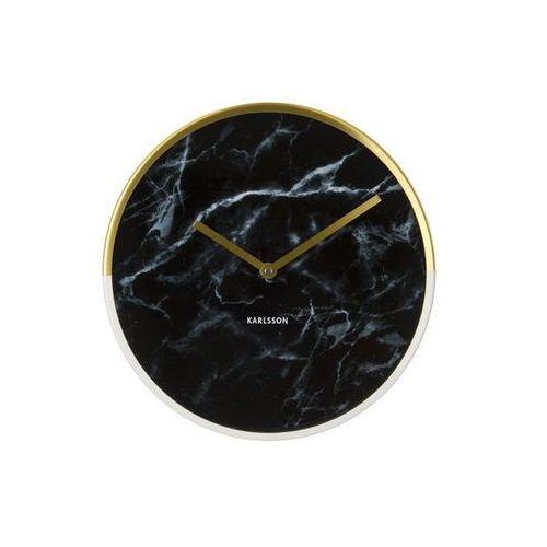 :: zegar ścienny marble delight czarny Ø30cm - czarny   złoty marki Karlsson
