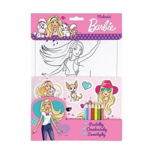 Barbie set - růžová, pastelky neuveden