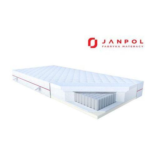 Janpol nolli – materac multipocket, sprężynowy, rozmiar - 160x200, pokrowiec - silver protect wyprzedaż, wysyłka gratis