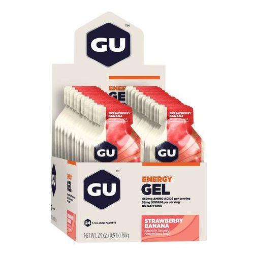 GU Energy Gel Żywność dla sportowców Strawberry Banana 24 x 32g 2018 Batony i żele energetyczne (0769493200105)