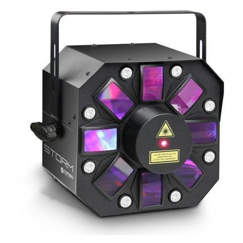 storm - 3 w 1 efekt świetlny, 5 x 3w rgbaw flower led, strobo i laser marki Cameo