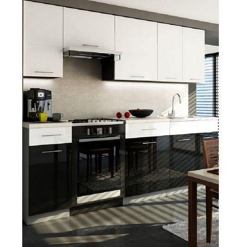 Zestaw mebli kuchennych Singiel Luxe Blanko/Negro 1,8/2,4 z SU produkcji Stolkar | Transport Gratis! z kategorii zestawy mebli kuchennych