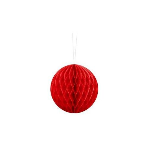 Dekoracja wisząca kula czerwona - 10 cm - 1 szt. marki Ap
