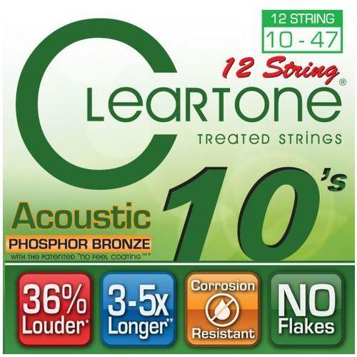 struny do gitary akustycznej, 12strunowej 10-47 bronze marki Cleartone