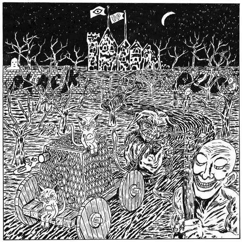 Black pus / oozing wound - split lp marki Thrill jockey