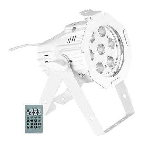 Cameo Studio Mini PAR Q 4W W WH - reflektor PAR LED 7x4W, ciepła biel/zimna biel, w białej obudowie