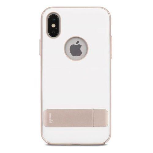 Moshi Kameleon - Etui hardshell z podstawką iPhone X (Coastal Gray), 99MO101032