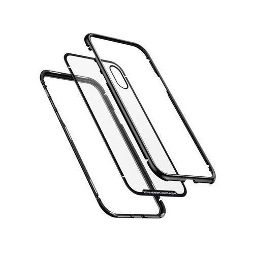 Etui Baseus magnetic case szklane do Apple iPhone X/Xs black (6953156277137)