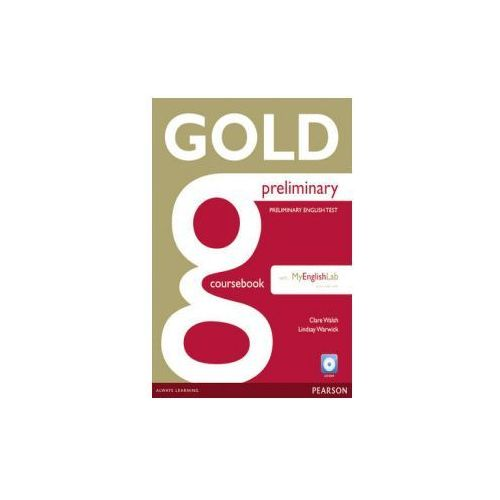 Gold Preliminary Coursebook with CD-ROM and MyLab Pack (9781447962045)