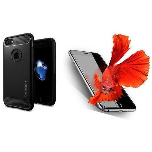 Zestaw   spigen sgp rugged armor black   obudowa + szkło ochronne perfect glass dla modelu apple iphone 7 marki Sgp - spigen / perfect glass