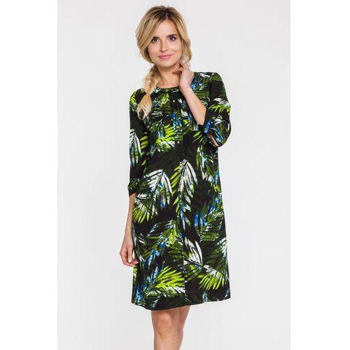 Potis & verso Sukienka w duże palmowe liście -