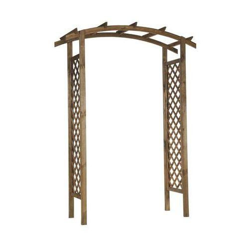 Pergola ogrodowa 157 x 58 x 225 cm drewniana nive marki Naterial