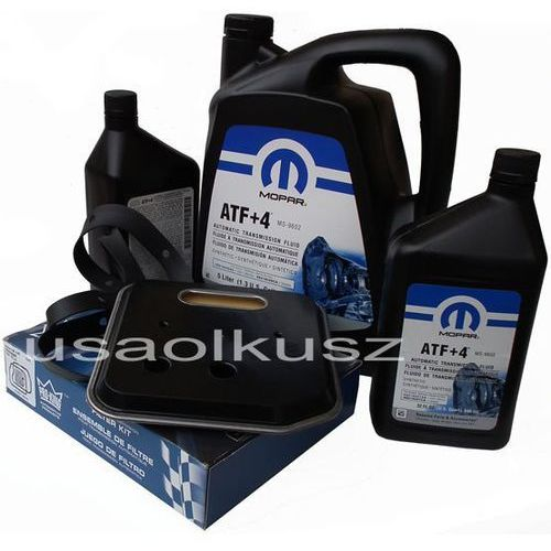 Olej atf+4 6,89l oraz filtr oleju oleju skrzyni biegów 42re dodge ram 1998-2009 marki Mopar