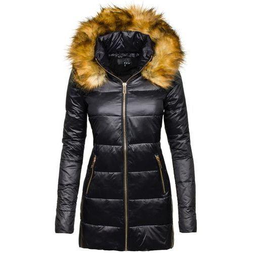 Czarna kurtka zimowa damska Denley 8070 - CZARNY, towar z kategorii: Kurtki damskie