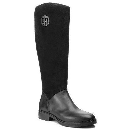 Oficerki TOMMY HILFIGER - Basic Th Riding Boot FW0FW03450 Black 990, kolor czarny