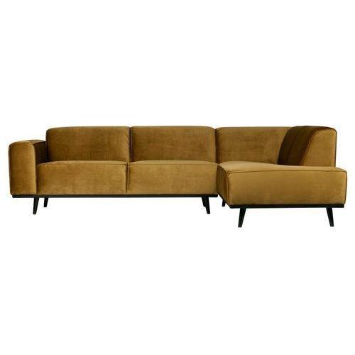 Be Pure Statement corner sofa right velvet honey żółty 378655-14 (8714713087860)
