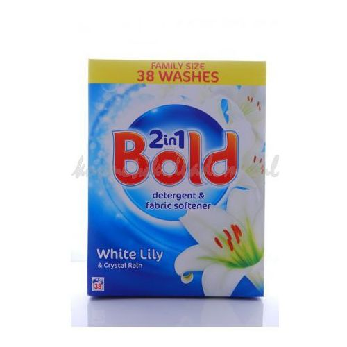 BOLD POWDER 2IN1 WHITE LILY&CRYSTAL RAIN 38 PRAŃ - PROSZEK DO PRANIA BOLD (proszek do prania ubrań)