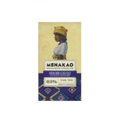 Menakao Czekolada 63% nibsy, sól 25g (3760155713053)