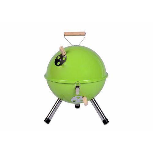 Kolorowy kulisty grill przenośny - zielony - sprawdź w KokiskashopPL