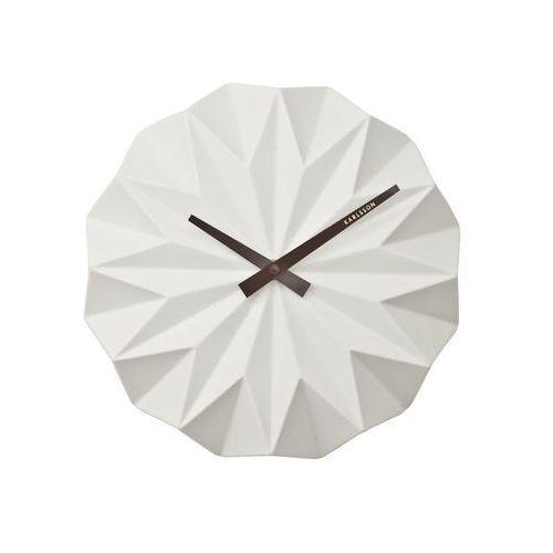 Karlsson:: Zegar ścienny Origami Ceramic Matt White, kolor biały