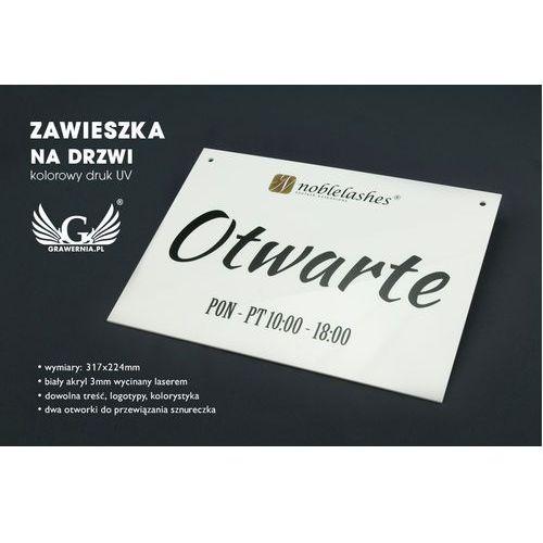 Tabliczka na drzwi otwarte/zamknięte - wymiary: 317x224mm - kolorowy druk uv - tab059 marki Grawernia.pl - grawerowanie i wycinanie laserem