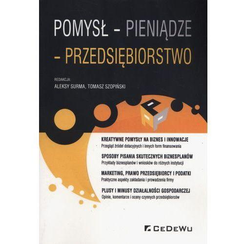 Pomysł pieniądze przedsiębiorstwo - Surma Aleksy, Tomasz Szopiński (9788375569971)