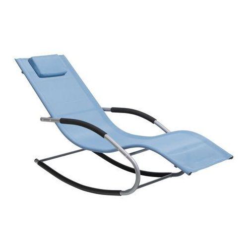 Leżak niebieski tekstylny bujany CARANO (4251682200691)