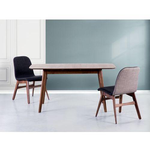Stół brązowy - rozkładany - 120-150x75 cm - kuchenny - do jadalni - MADOX - sprawdź w Beliani