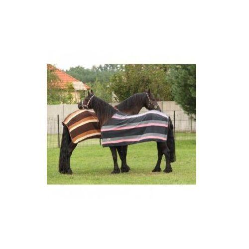 Derka z polaru- York Stripe rozmiar 145 cm - produkt dostępny w Pro-horse Sklep Jeździecki