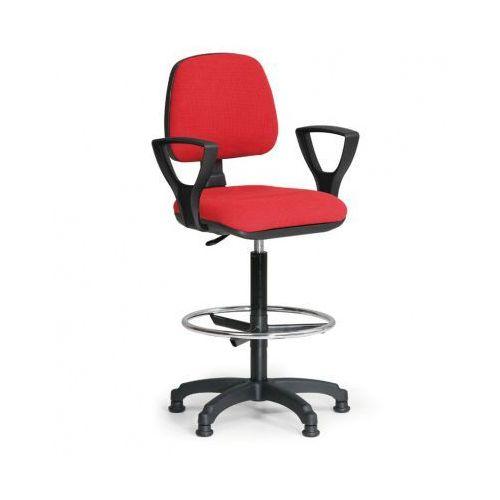 B2b partner Podwyższone krzesło milano z podłokietnikami - czerwone
