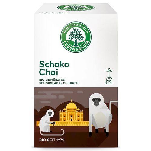 Herbata czekoladowa chai ekspresowa bio 20 x 2 g lebensbaum marki Lebensbaum (przyprawy, herbaty, kawy)