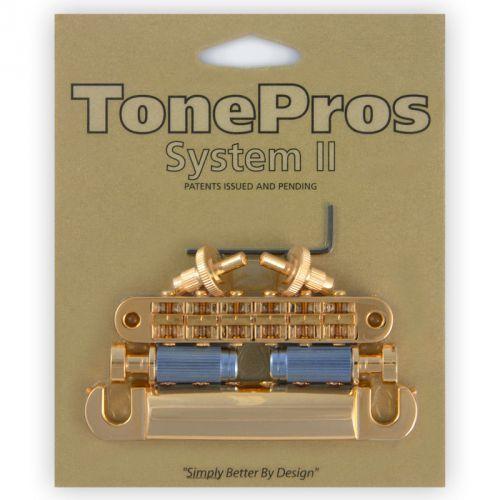 Tonepros lpm04-g - bridge and tailpiece set, mostek do gitary, złoty