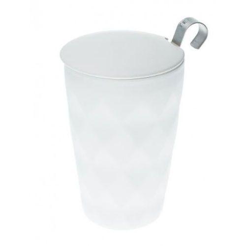 kubek z zaparzaczem teaeve crystal white 350 ml marki Eigenart