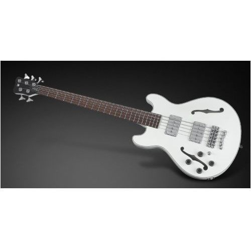 star bass 5-str. solid creme white high polish, fretted - long scale - lefthand gitara basowa marki Rockbass