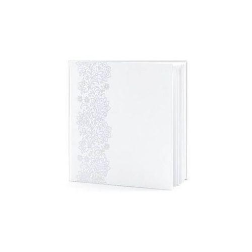 Księga gości weselnych biała ze srebrnym wzorem - 22 kartki, #A923^j
