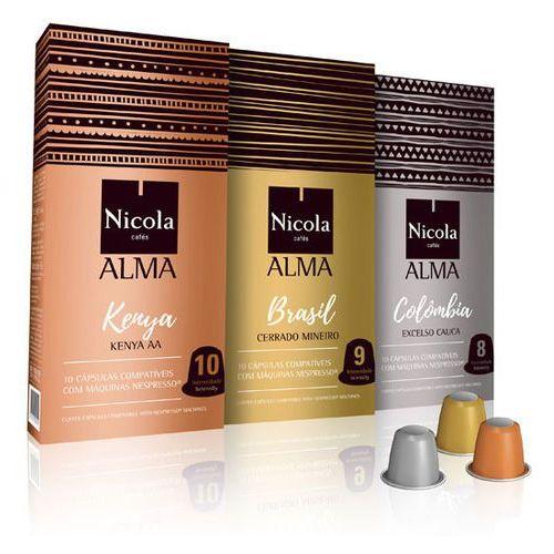 Portugalska kawa alma w kapsułkach do nespresso - zestaw 3x10 szt marki Nicola