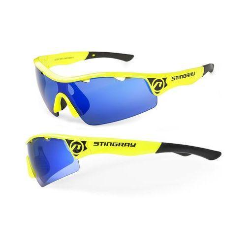 Okulary STINGRAY żółte, 2 pary soczewek (5906720857762)