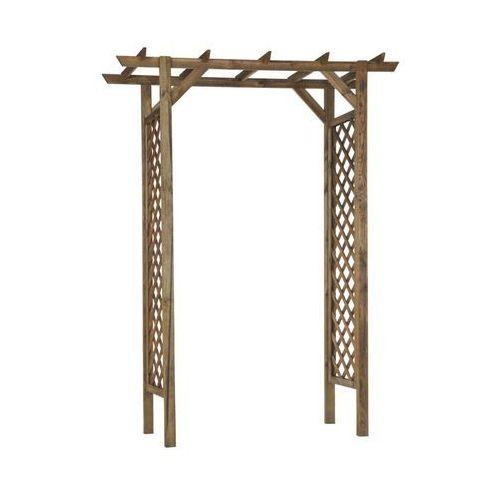 Pergola ogrodowa 157 x 58 x 213.5 cm nive drewniana marki Naterial