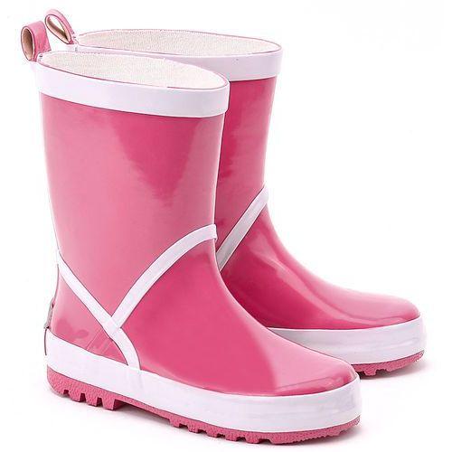 PLAYSHOES Kalosze Różowe - Różowe Gumowe Kalosze Dziecięce - 184310 18-PINK, kolor różowy