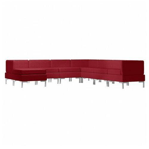8-częściowy zestaw wypoczynkowy czerwone wino - Marsala 8D, vidaxl_3052857