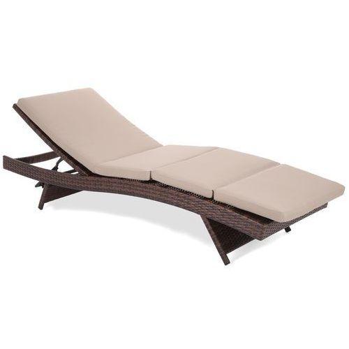 Home&garden Leżanka ogrodowa  bora bora z poduszką brązowy + darmowy transport! (5902425322239)