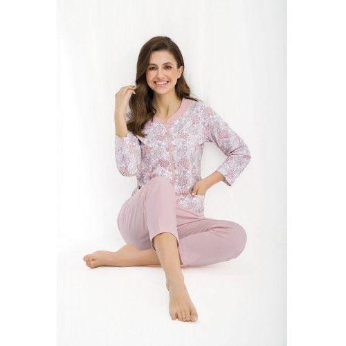 Bawełniana piżama damska LUNA 458 różowa