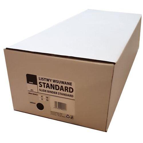 Listwy do bindowania wsuwane standard , czarne, 15 mm, 50 sztuk, oprawa do 75 kartek - autoryzowana dystrybucja - szybka dostawa - tel.(34)366-72-72 - sklep@solokolos.pl marki Argo